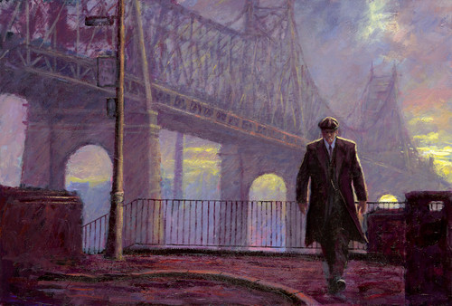 King of Queens is a is a limited edition print of the painting by Scottish artists Alexander Millar. It depict the New York scene from Sutton Place in Manhattan looking towards queens.