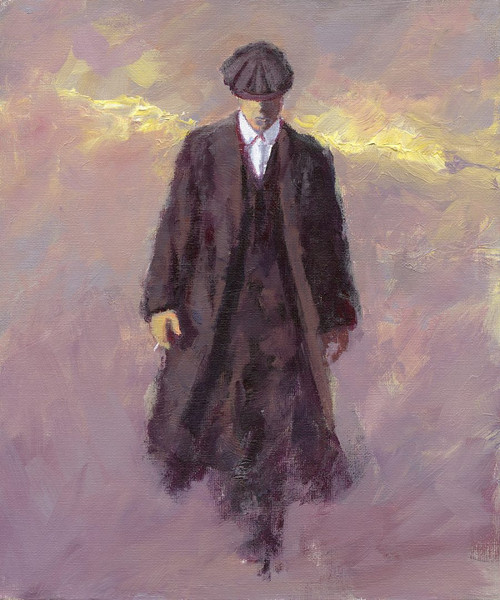 Heaven Can Wait is a limited edition print of the painting by Scottish artists Alexander Millar. It reminded hime of the film with Warren Beatty. With the title in mind, the clouds took on the appearance of angels' wings on his back.
