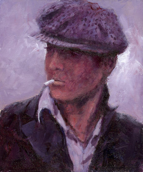 Bonnie Lad is a limited edition print of a painting by Scottish artist Alexander Millar.  It's a way of saying hello in Newcastle upon Tyne - as in 'Alreet Bonnie Lad'. In Scotland, it's more of a description for a good looking guy.
