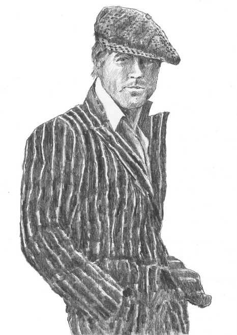 Making His Markis a limited edition print of a drawing of Robert Redford by Scottish artist Alexander Millar. It is from in one of his favourite films The Sting.