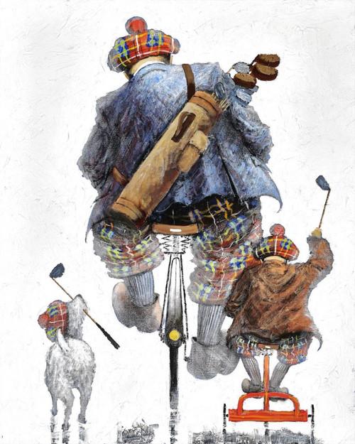Tee 4 Three is a print of the original painting by Scottish artist Alexander Millar.