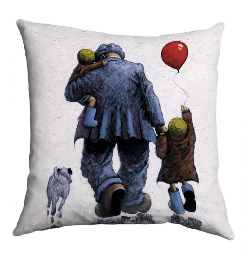 "The ""Dad"" cushion is based on a painting of the same name by Alexander Millar."