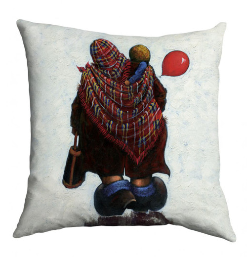 "The ""Mam"" cushion is based on a painting of the same name by Alexander Millar."