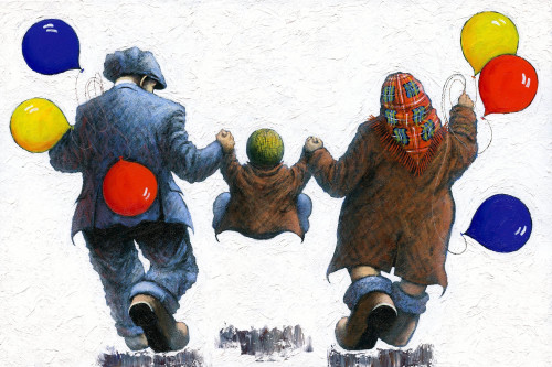Again, Again, ...Again - is a limited edition print and an original oil painting by Scottish artist Alexander Millar.