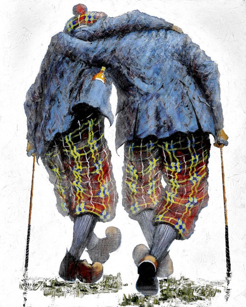 Two Under Par is a print of the original painting by Scottish artist Alexander Millar. It recalls how often the 19th hole plays an inportant part in the sport.