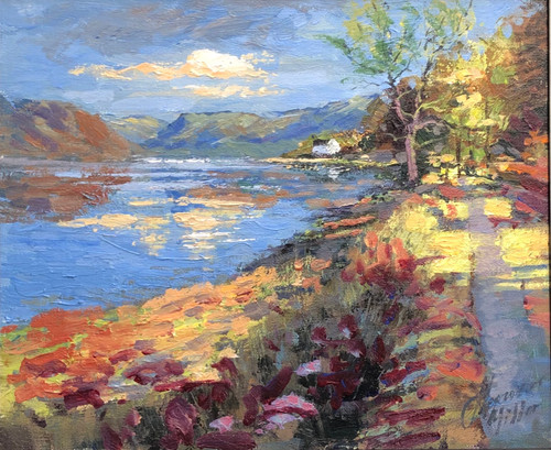 Sunny Days, Loch Fyne is an original landscape oil painting by Alexander Millar.