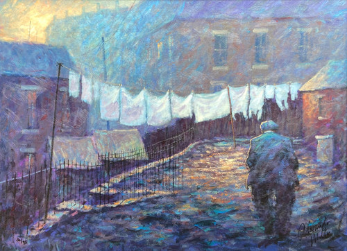 Dusk Till Dawn is a rare edition signed, limited edition print on canvas of the painting of the same name by Scottish artist Alexander Millar.
