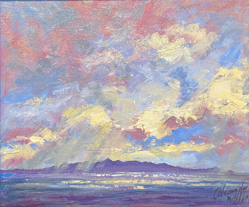 Stormy Clouds, Arran is an original oil painting by Scottish artist Alexander Millar.