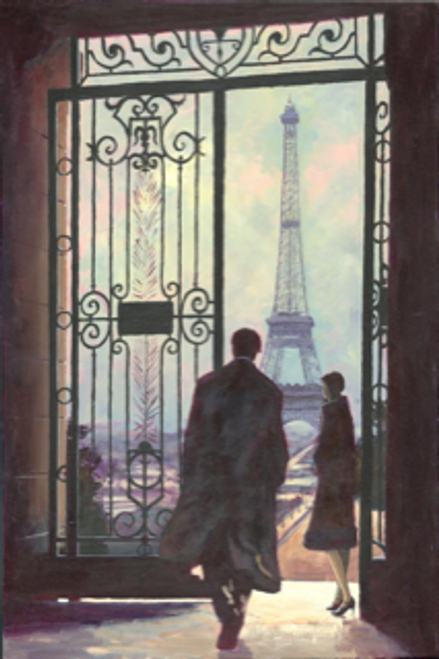 The Rendezvous, set in Paris, is a signed, limited edition print of the original oil painting by Alexander Millar.