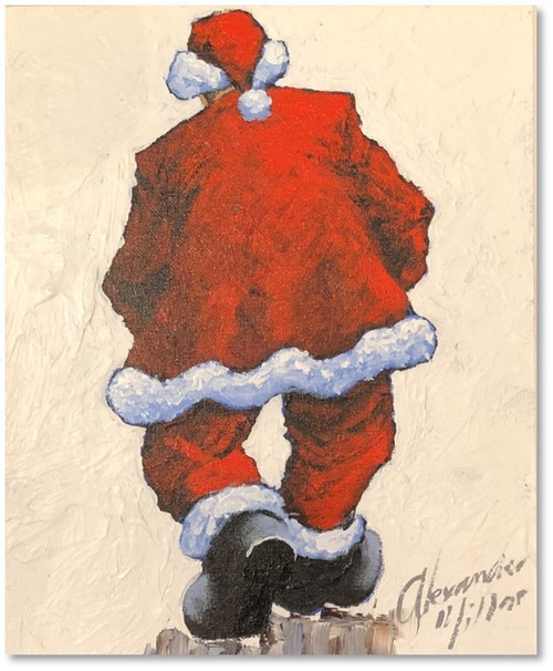 Santa is a signed limited edition print of the painting of the same name by Alexander Millar.