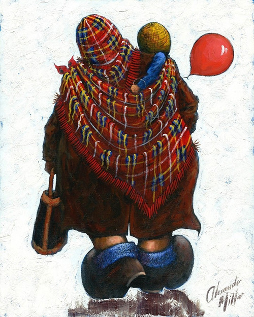 This limited edition print available in two sizes is of the painting by Scottish artist Alexander Millar.