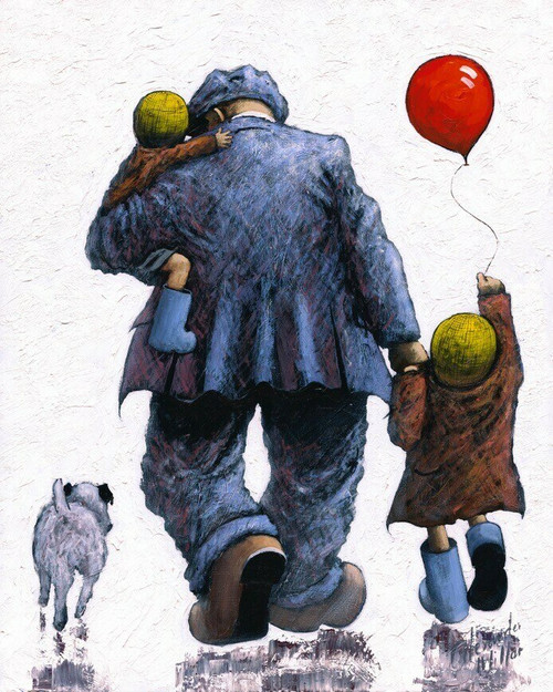 Dad is a signed limited edition print in two sizes, based on the orginal painting by Alexander Millar.