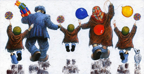 Lollipops and 99s is a limited edition print of the painting by Scottish artist Alexander Millar.