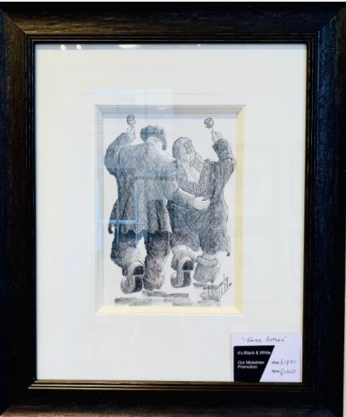 Toffee Apple is a framed, original pencil drawing by Alexander Millar.