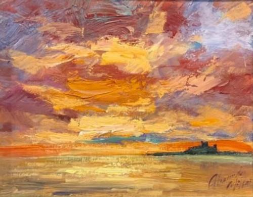 Sunset, Bamburgh