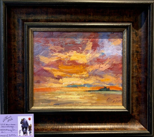 Sunset, Bamburgh is an original oil painting by Alexander Millar.