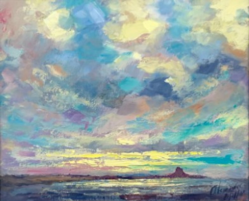 Distant Skies, Lindisfarne is an original oil painting by Alexander Millar.