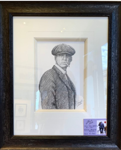 You Looking At Me is an original pencil drawing by Alexander Millar.
