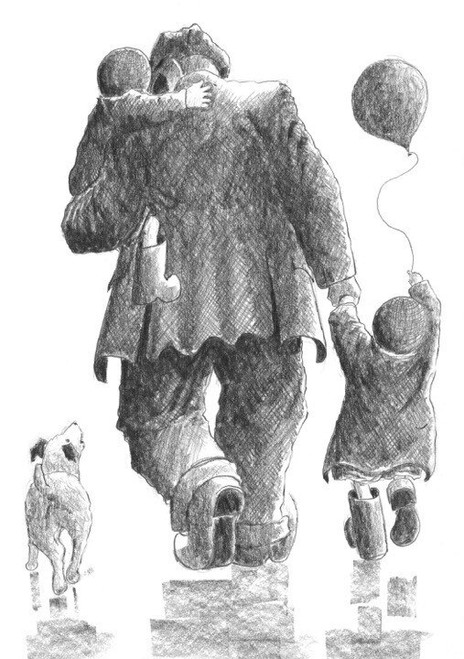 Heading Home is a signed limited edition print of the original drawing by Scottish artist Alexander Millar.