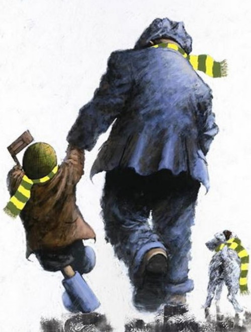 Win, Lose or Draw is a rare, signed limited edition print of a pinting of the same name by Alexander Millar.