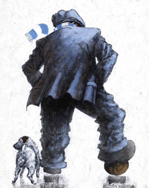 Up The City is a rare, signed limited edition print of a pinting of the same name by Alexander Millar.