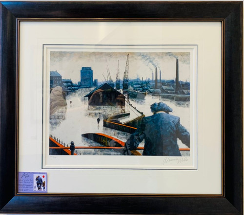 When the Boat Comes In is a framed, signed, limited edition print of the painting of the same name by Alexander Millar.