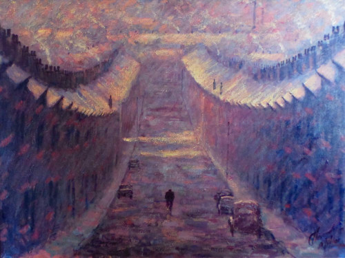 A Cold and Frosty Start is an original oil painring by Alexander Millar.