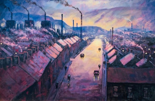 Here Be My Valley is a framed, signed limited edition print of the original painting of the same name by Alexander Millar.
