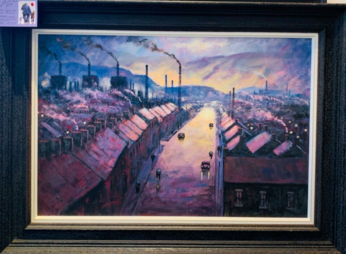 Here Be My Valley is a framed, signed limited edition print on canvas of the original painting of the same name by Alexander Millar.