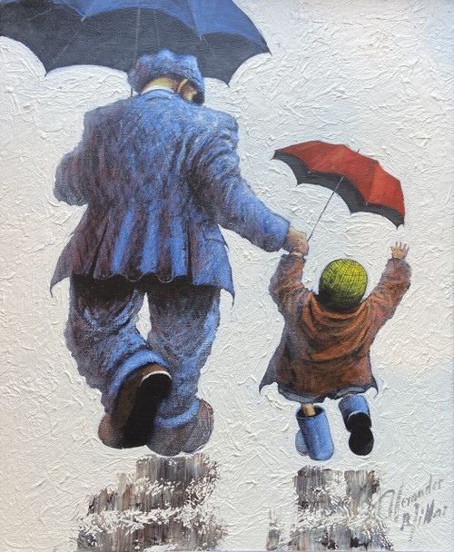 Come Rain or Shine is an original oil painting by Scottish artist Alexander Millar.