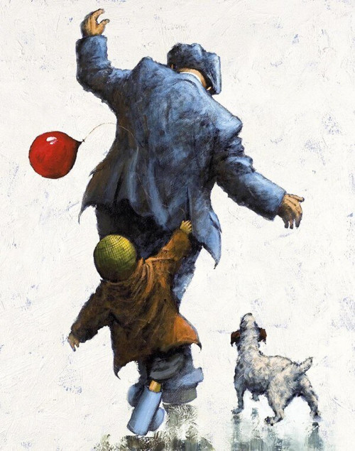 Follow My Lead is a rare, framed, signed limited edition print of the painting of the same name ny Alexander Millar.