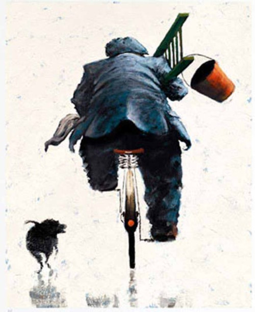 When I'm Cleaning Windows is a rare, framed signed limited edition of the painting of the same name by Alexander Millar