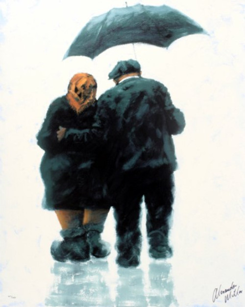 Mam and Dad is a rare, framed, signed limited edition print of the painting of the same name by Alexander Millar.
