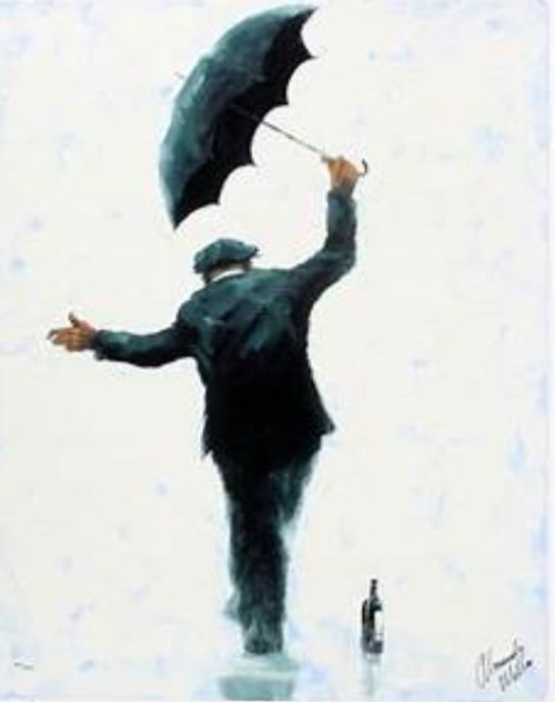 Balancing Act is a rare, framed, signed limited edition print of the painting of the same name by Alexander Millar.