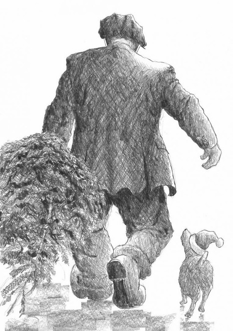 The Christmas Tree is a limited edition print of the drawing by Scottish artist Alexander Millar.