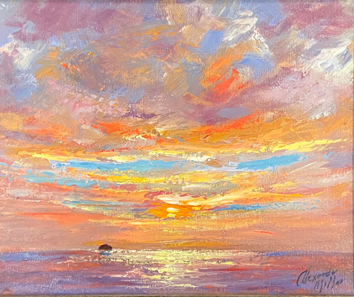 Autumn Sunset is an original oil painting by Alexander Millar.