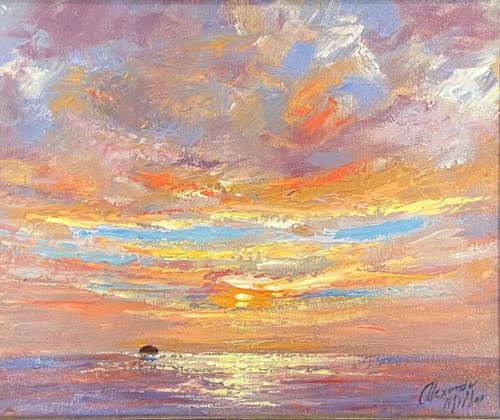 Autumn Sunset is an original oil painting by Alexander Millar.