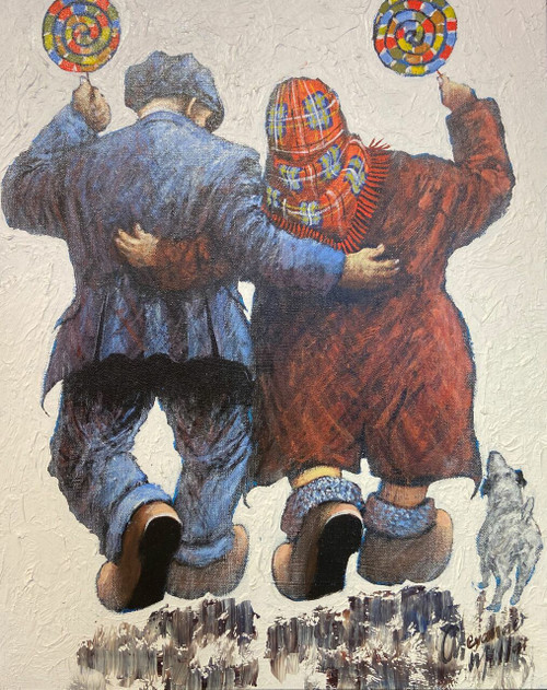Lollipops is a framed, original oil painting by Scottish artist Alexander Millar.
