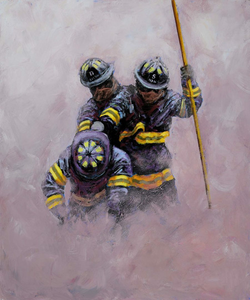 This Alexander Millar print is a dramatic representation of the unshakable teamwork and focus found in groups of firefighters around the world.