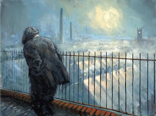 Northern Lights is a framed, limited edition print of the painting of the same name by artist Alexander Millar, part of the Working Man portfolio of work.
