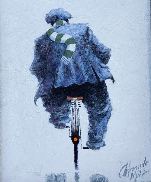 Parkhead Bound is an original oil painting by Scottish artist Alexander Millar.