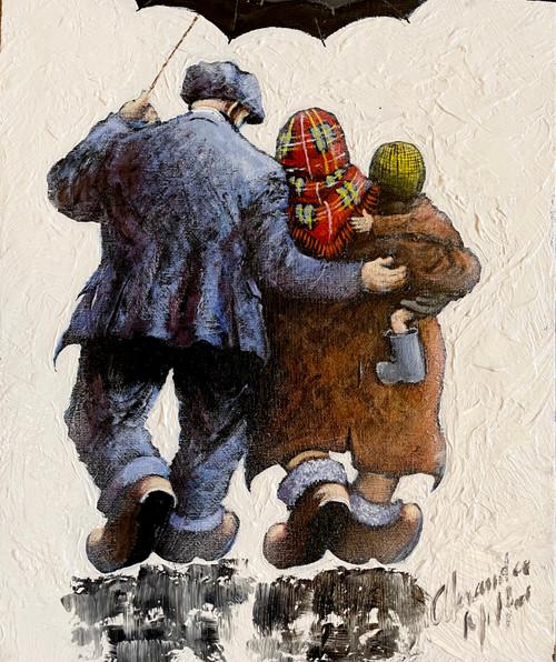 Cuddle Up  is an original oil painting by Scottish artist Alexander Millar.