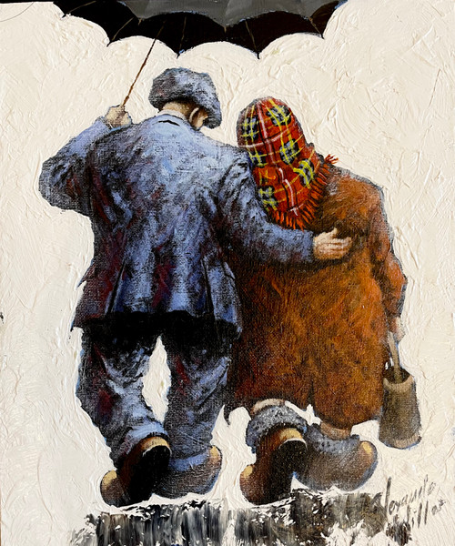 Helping Hands is an original oil painting by Scottish artist Alexander Millar.
