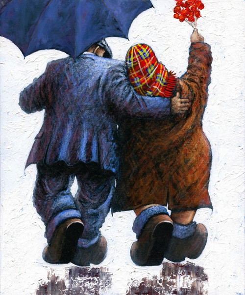 Say It With Flowers is a limited edition print of the painting by Scottish artist Alexander Millar.