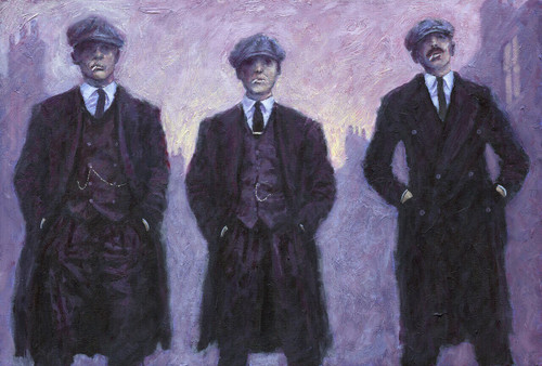 Peaky Blinders is a limited edition print on paper and on hand embellish canvas of the painting by Scottish artist Alexander Millar.
