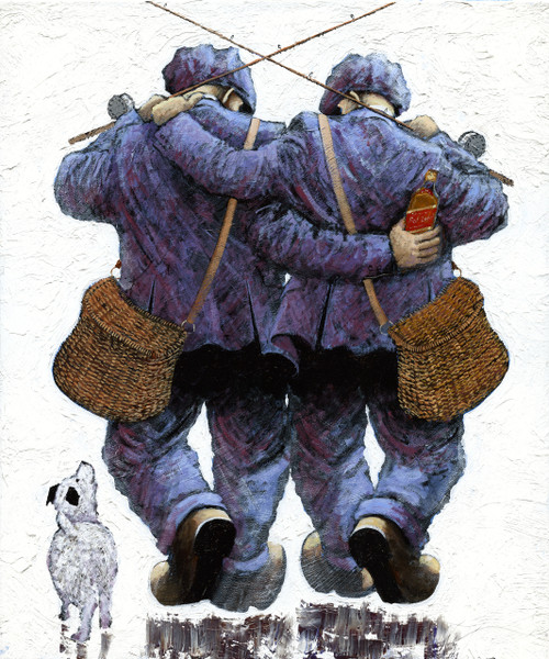 Couldnae Catch a Cold is a framed, original oil painting by Alexander Millar.