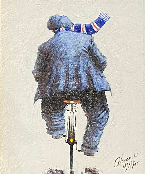 Wheelin' Home from Ibrox is an original oil painting by Alexander Millar.