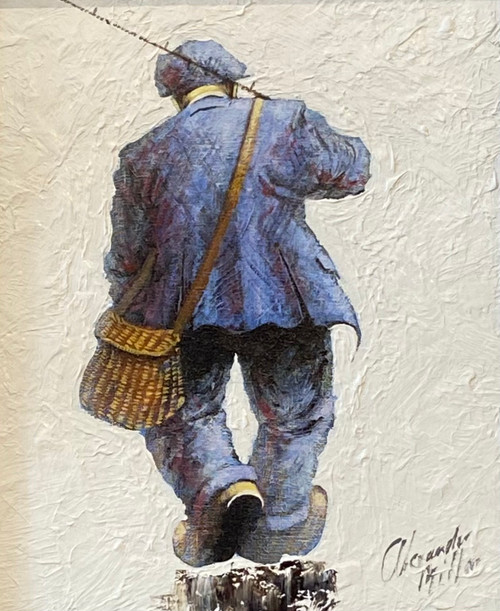 Heading Up River is an original oil painting by Scottish artist Alexander Millar.