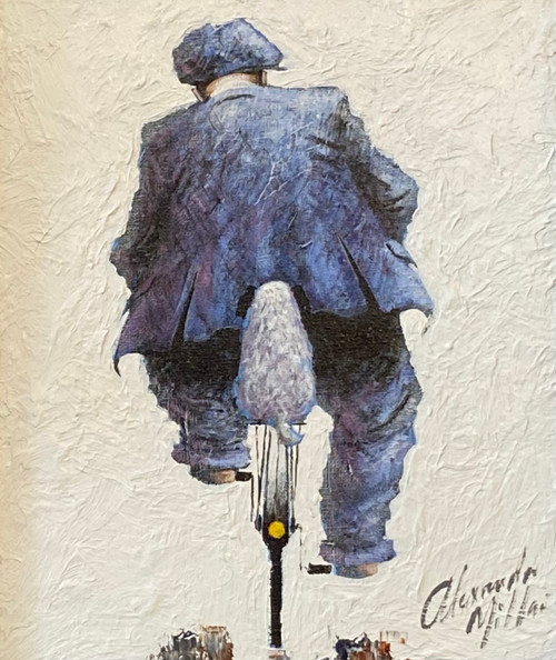 Where You Go, I Go is an original oil painting by Scottish artist Alexander Millar.