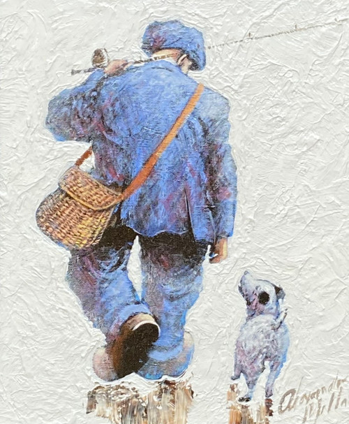 Let's Go Fishing is an original oil painting by Scottish artist Alexander Millar